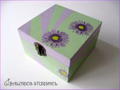 Caja Decoupaje Lila&Verde -blog