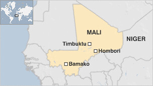 A map of the West African state of Mali illustrating Timbuktu, Bomako and Hombori. Mali has an ancient history of culture and civilization. by Pan-African News Wire File Photos