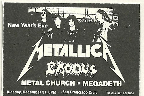12-31-85 Metallica-Exodus-Metal Church @ San Francisco, CA
