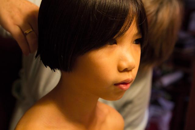 Qiqi Cuts Her Long Hair Pageboy November 27, 2011 10
