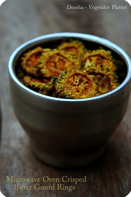 Microwave Oven Crisped Bitter Gourd Rings