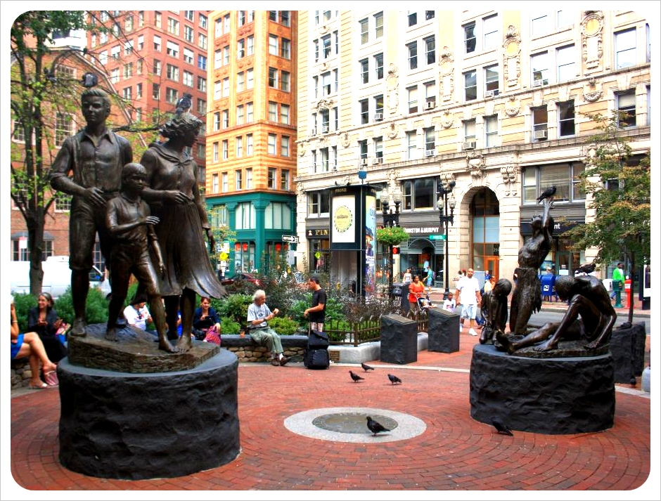 boston irish immigrants sculpture