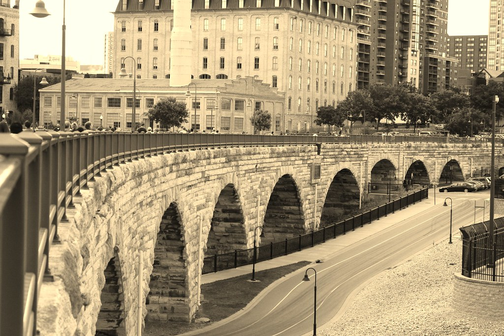 St. Anthony Falls - Minneapolis, MN Stone Arch Bridge