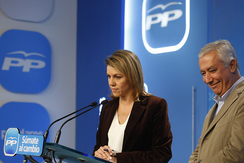 Rueda de prensa de Maria Dolores de Cospedal y Javier Arenas