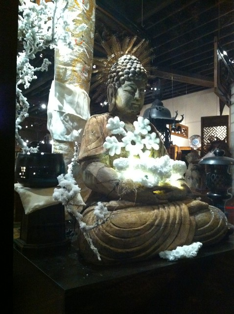 Shogun on NW 23rd here in Portland showcases a Buddha in its center front ...