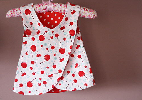 baby reversible apron dress back