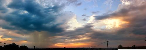 sunset sky skyline clouds canon panoramic mo flw xsi fortleonardwood lent454