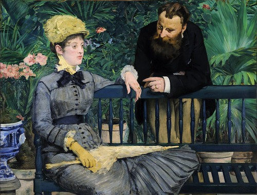 Edouard Manet - In The Conservatory [1878-79] by Gandalf's Gallery