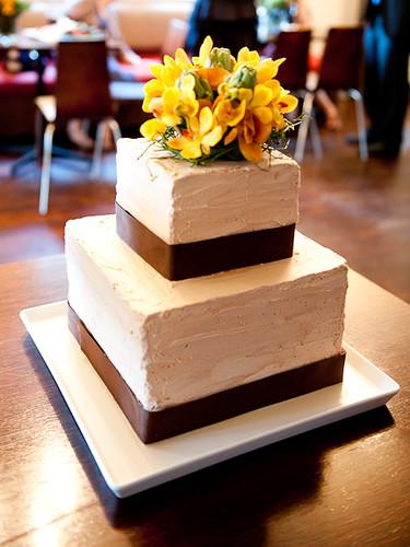 My homemade vegan wedding cake