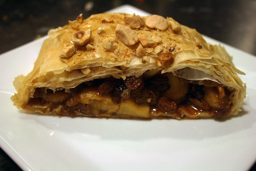 Spiced Apple Strudel slice