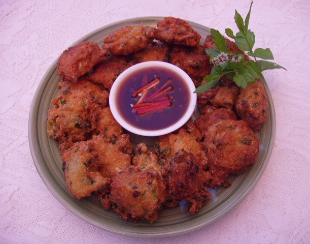 Corn meal Pakora/ Bhajia