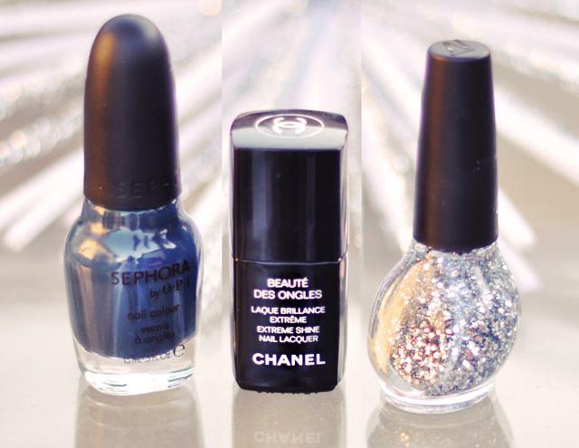 sephora by OPI -My Personal Serpent-Silver glitter nail polish