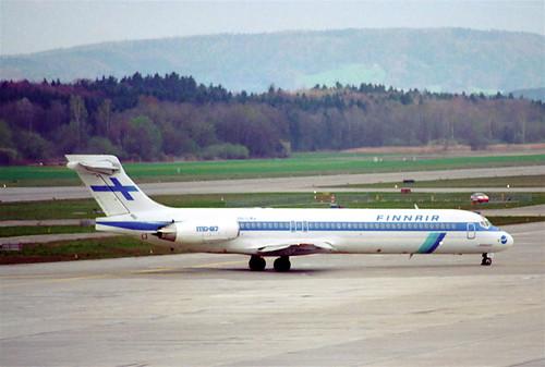 Finnair MD-87; OH-LMA@ZRH;08.04.1995