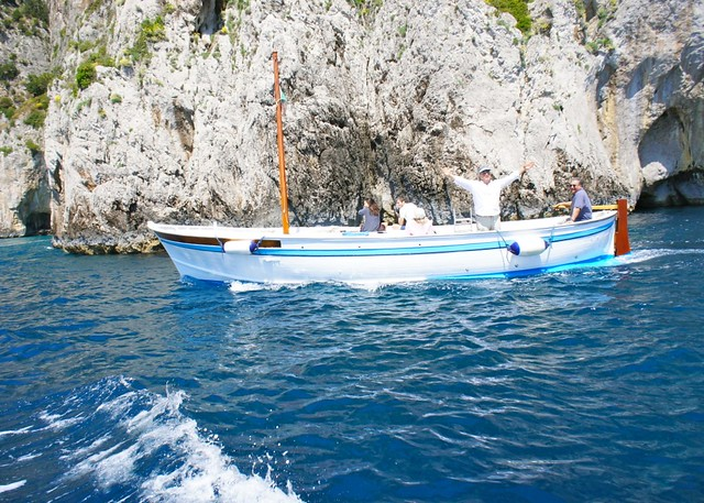 Boating around Capri