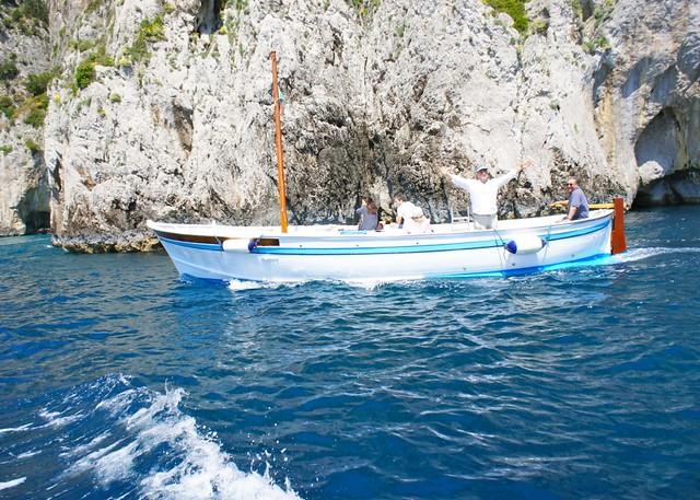 Boating around Capri
