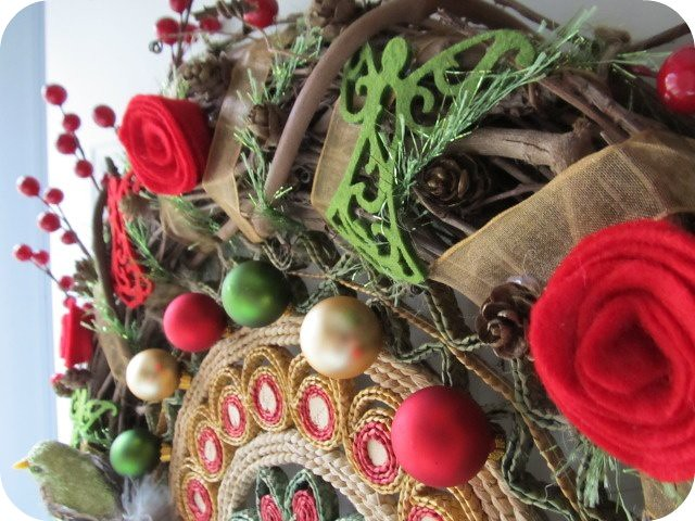 vintage trivet wreath