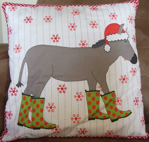 A fun Christmas cushion by monkeysinmypocket