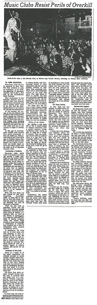 09-04-74 NYT - Rock Clubs Resist Peril