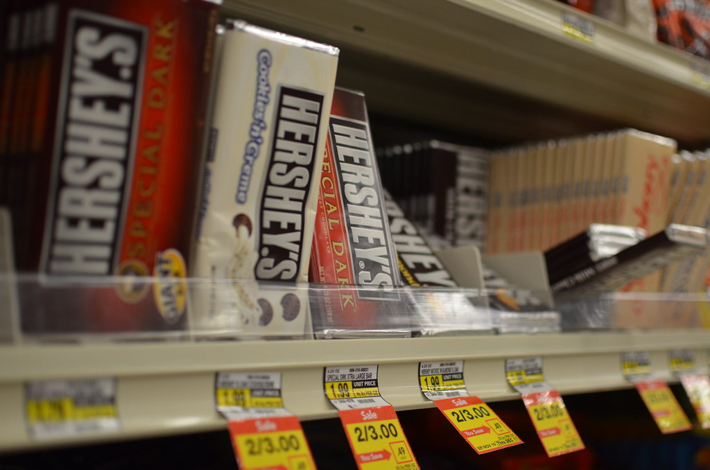 Hershey Chocolate at Grocery Store