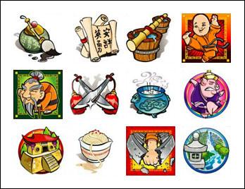 free Little Master slot game symbols