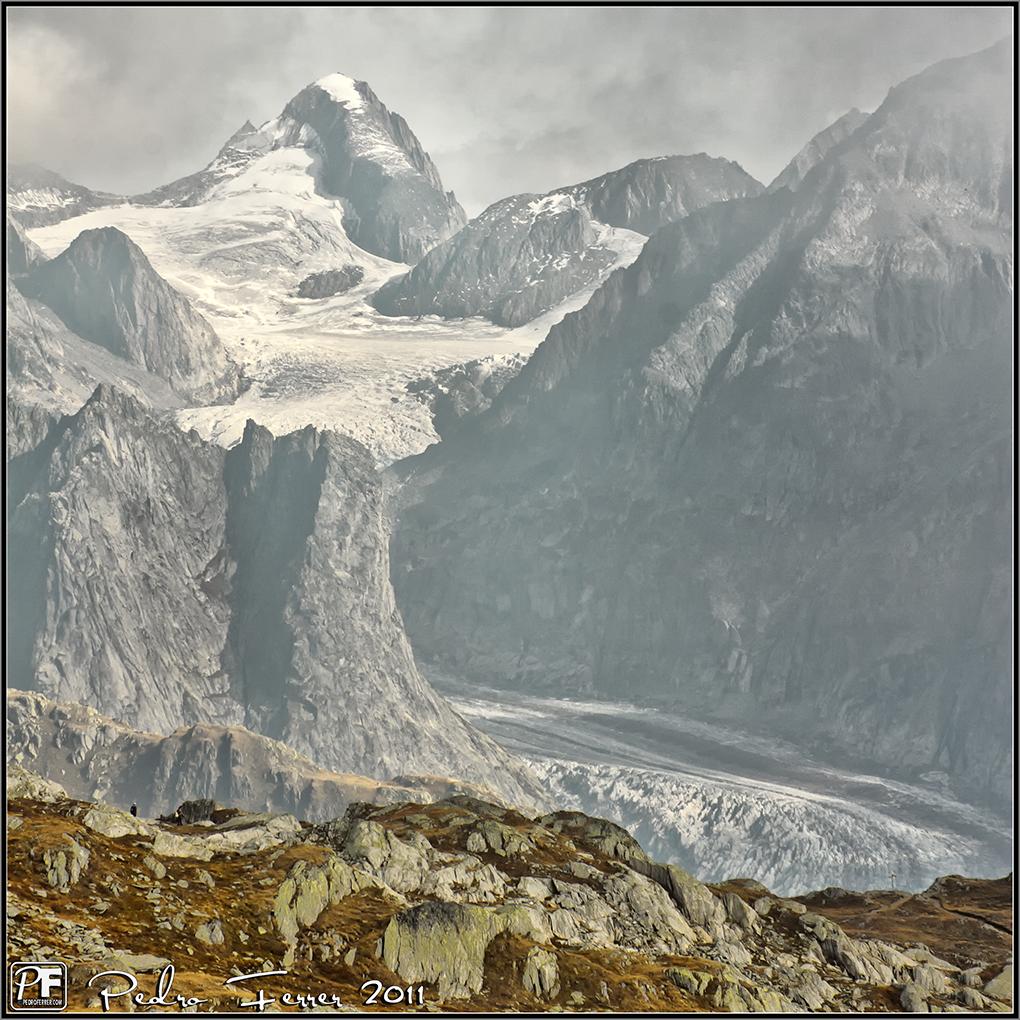 Suiza - Las montañas - Glaciar Fiesch