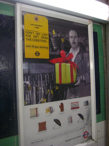 TfL's Xmas Gift Poster by Annie Mole