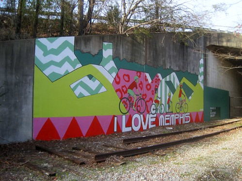 Mural on Greenline - I love Memphis by joespake