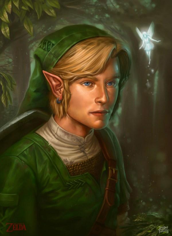 ilustración realista Zelda