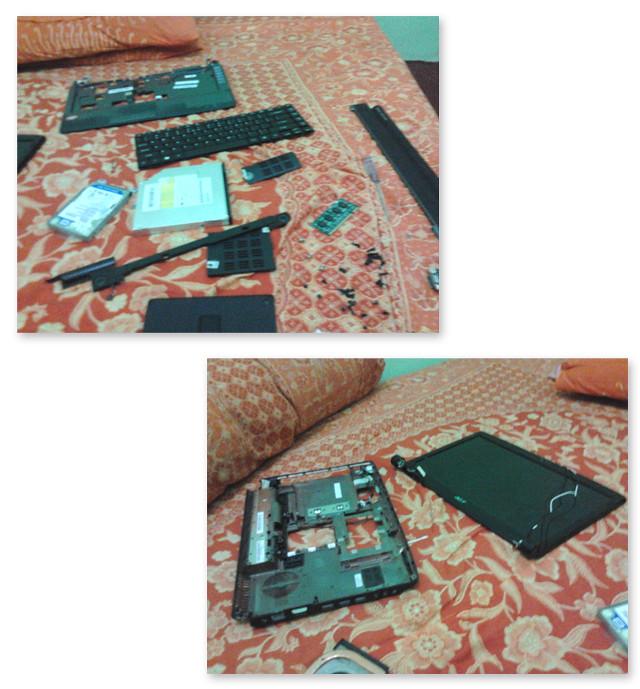 Membongkar laptop Acer 4540 - Jual Laptop Bekas Acer 4540