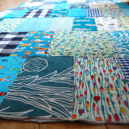WIP patchwork blanket 2011 december 17