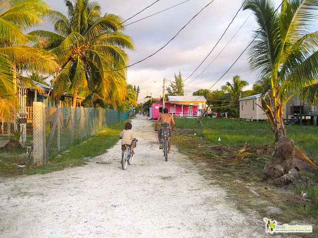 biking around caye caulker belize