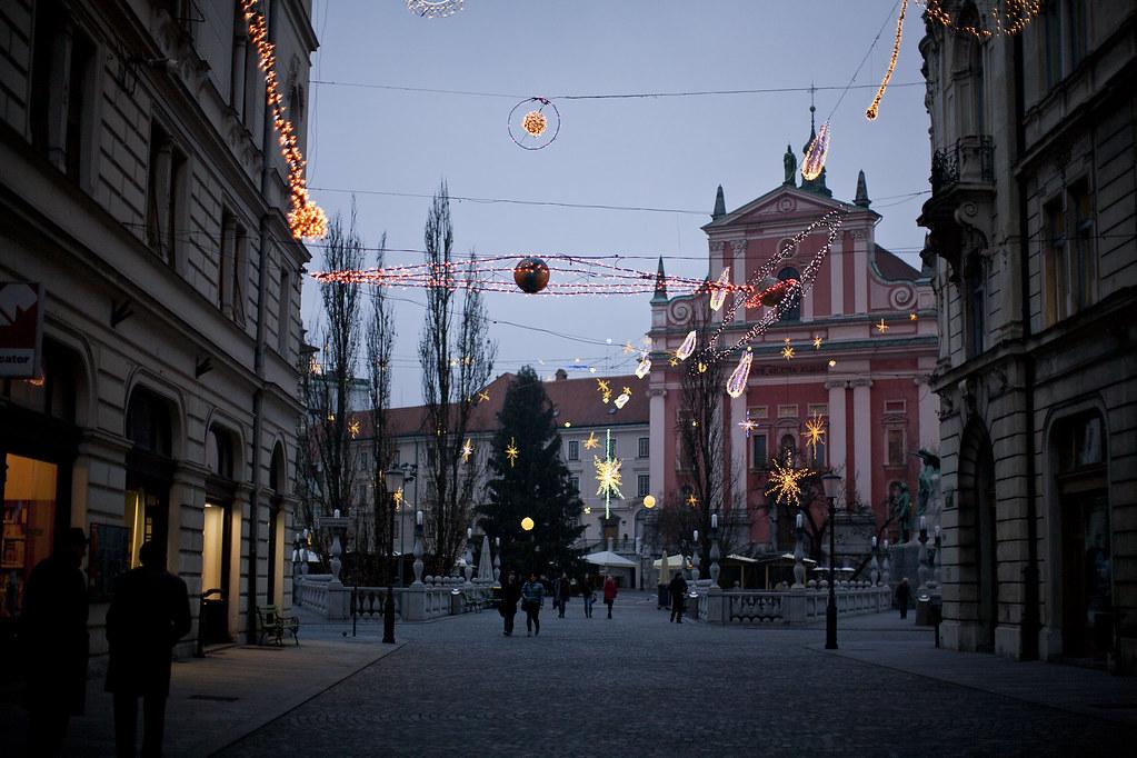 happy holidays, christmas, ljubljana