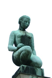 Young, kneeling woman by Charles Leplae (1953)