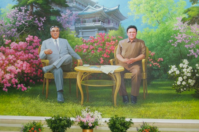 Kim Jong-il and Kim Il-sung