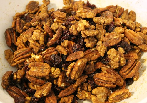 Spiced nuts and cranberries