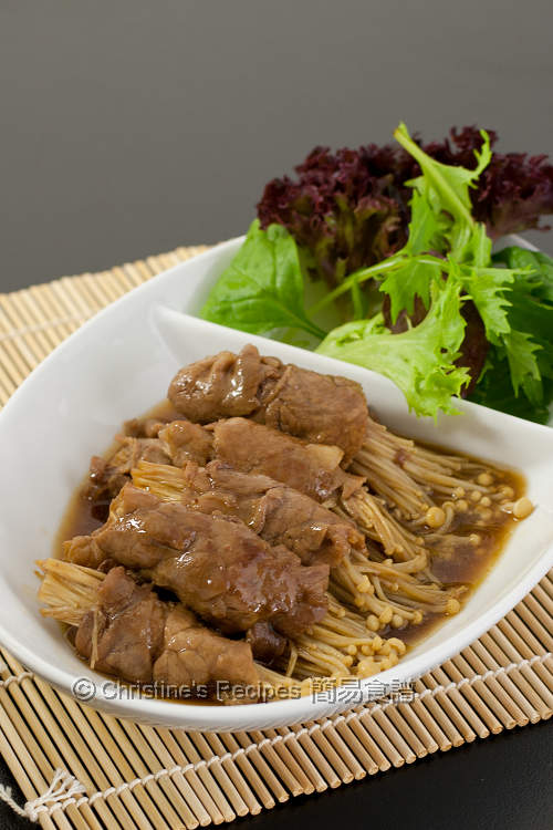 照燒金菇牛肉卷 Beef and Enokitake in Teriyaki Sauce01