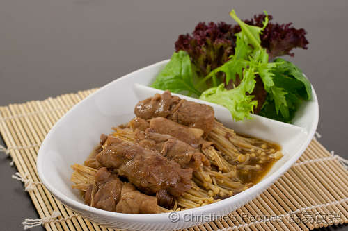 照燒金菇牛肉卷 Beef and Enokitake in Teriyaki Sauce02