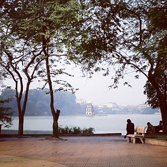 This is my view right now. Pretty sweet. Rekindling my love with an old flame. #Hanoi