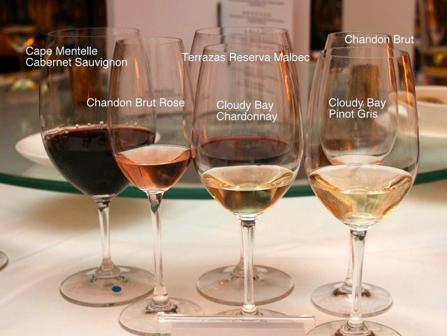At least six different wines from Moët Hennessy