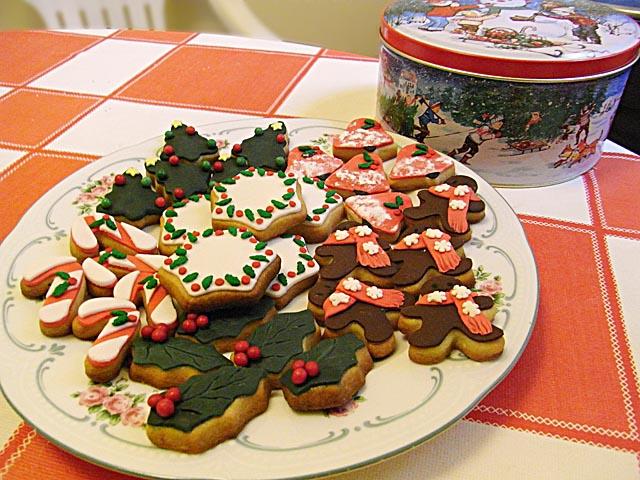 galletas navideñas con fondant