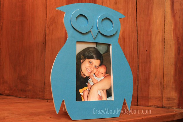 6544102155 a60054e10e z DIY DwellStudio Owl Frame Knockoff #ElmersHoliday #GlueNGlitter Project #CBias