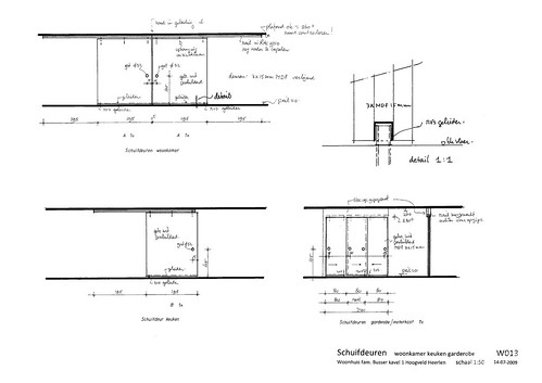 Sliding Doors Architectural Drawing W013 Drawing Sliding Doors 1