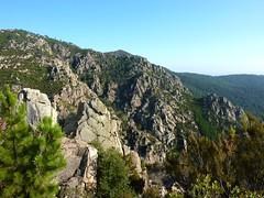 Punta Radichella par la sente de chasseurs : au sommet, ravin du ruisseau de Radichella et Punta di Pusu