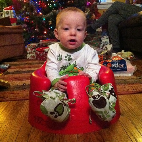 #hourlyphoto 9am: baby's first Christmas