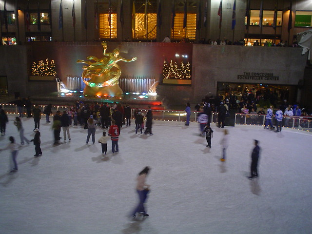 Photo de la Patinoire du Rockefeller Center, New York, USA