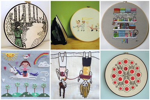 Some favourite embroidery patterns of 2011