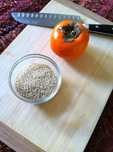 Persimmon and Quinoa recipe - what you need