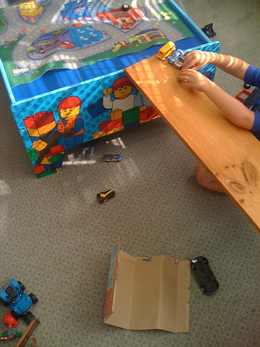 playing with cars - ramps