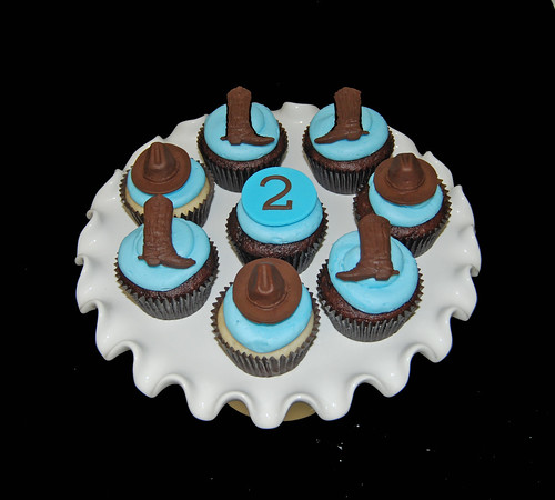 2nd birthday cowboy themed cupcakes