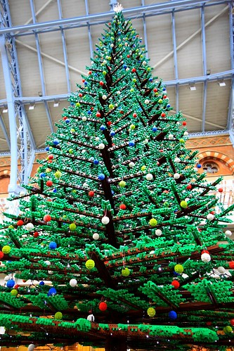 Lego Christmas Tree, St Pancras International Station